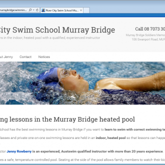 Website design for Murray Bridge Swimming School