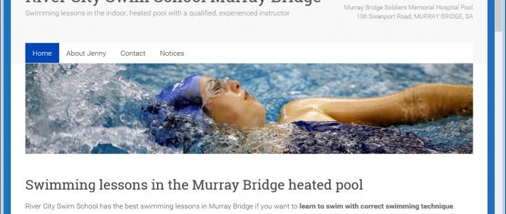 Website design for Murray Bridge Swimming School