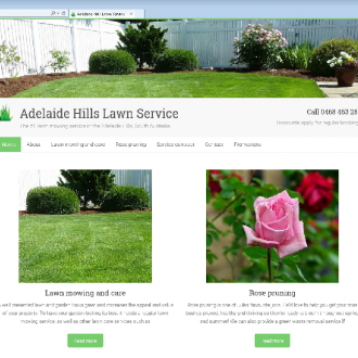 New website design for Adelaide Hills gardening business